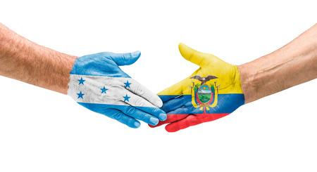 bandera honduras: Apretón de Honduras y Ecuador
