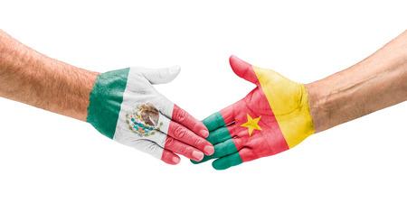 vs:  Handshake Mexico and Cameroon