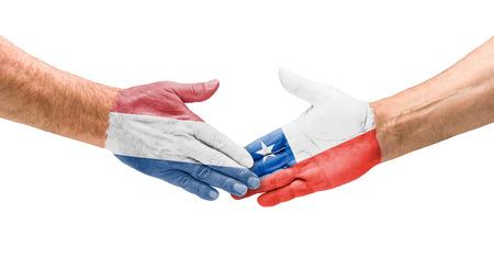 Handshake Netherlands and Chile photo
