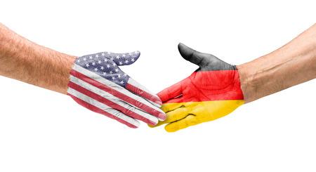 vs: Handshake USA and Germany