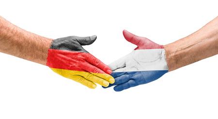 Handshake Germany and Netherlands photo