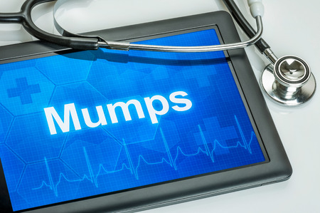 mumps: Tablet with the diagnosis Mumps on the display Stock Photo