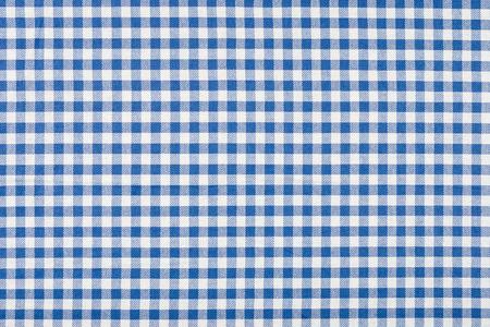 파란색과 흰색 체크 무늬 식탁보 스톡 콘텐츠