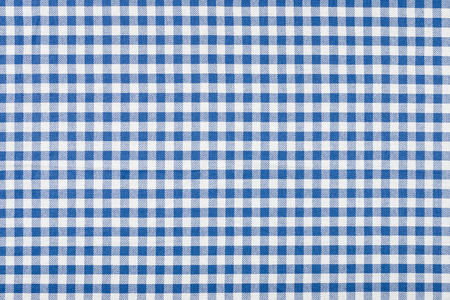 Blue and white checkered tablecloth photo