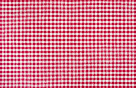 picnic tablecloth: Red and white checkered tablecloth