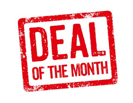 赤いスタンプ - 今月の取引