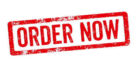 order now: Red Stamp - Order now Stock Photo
