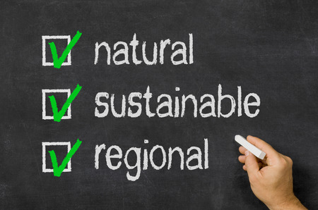 eco slogan: natural, sustainable, regional