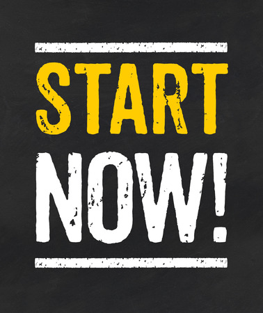Start now Stock Photo