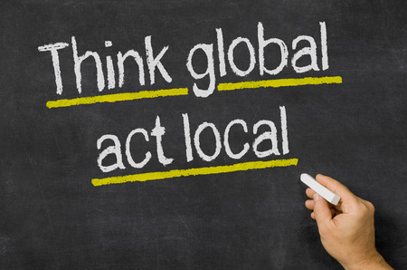 Think global - act local photo