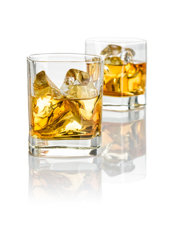 scotch whisky: Two glasses of whiskey