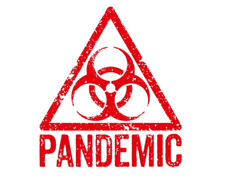 infectious disease: Red Stamp - Pandemic