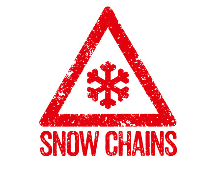 snow chains: Red Stamp - Snow Chains