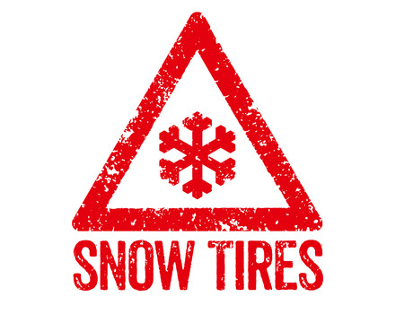 snow tires: Red Stamp - Snow Tires