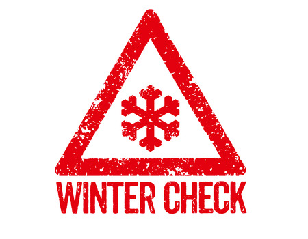 snow chains: Red Stamp - Winter Check