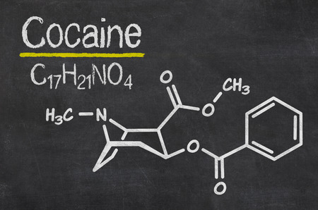 Blackboard with the chemical formula of Cocaine photo