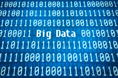big data: Binary code with the word Big Data in the center