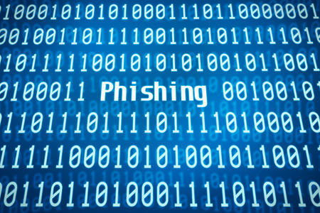 Binary code with the word Phishing in the center photo