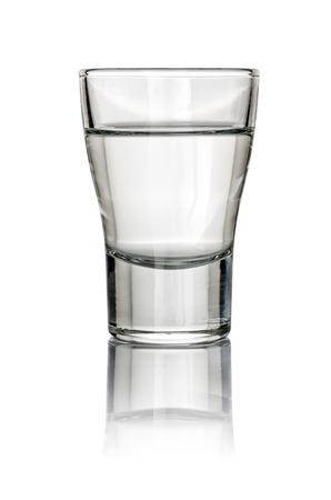Filled Shot Glass on a white background 版權商用圖片