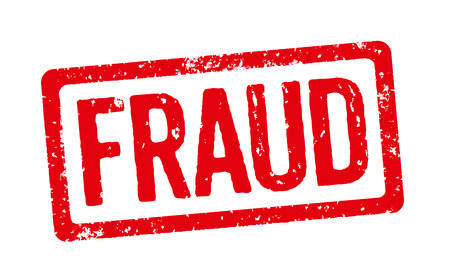 Red Stamp - Fraud Stock Photo