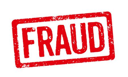 Stamp Rouge - Fraude Banque d'images - 33219127