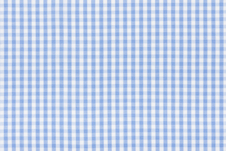 Blue and white checkered fabric photo