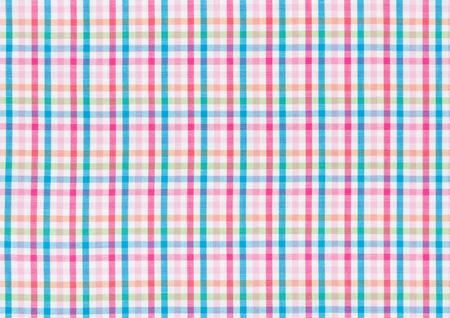 Fabric with a colorful checked pattern photo