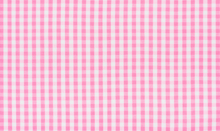 Pink and white checkered fabric photo