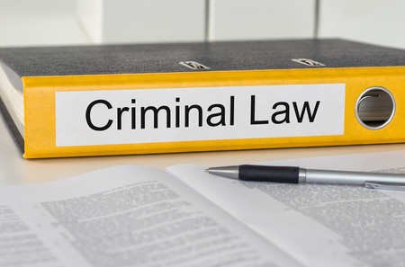 criminal law: Folder with the label Criminal Law