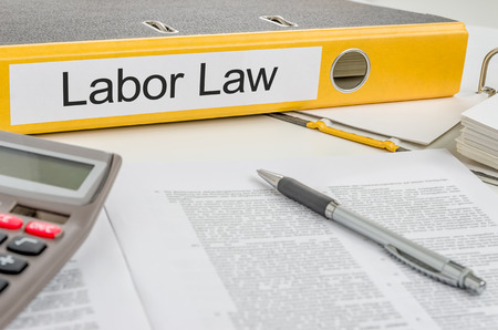 Folder with the label Labor Law photo