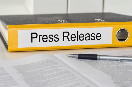Folder with the label Press Release