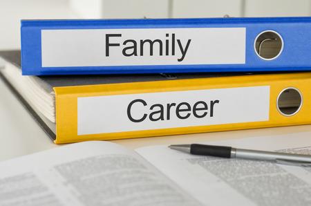 planificación familiar: Carpetas con la Familia etiqueta y Carrera