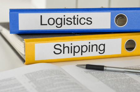 folder with documents: Folders with the label Logistics and Shipping