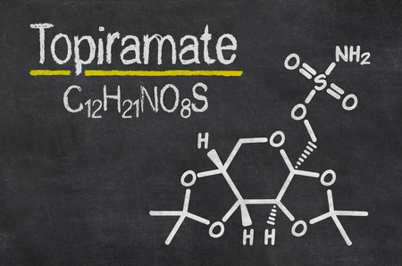 Blackboard with the chemical formula of Topiramate photo