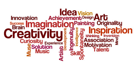 originality: Word Cloud - Creativity Stock Photo