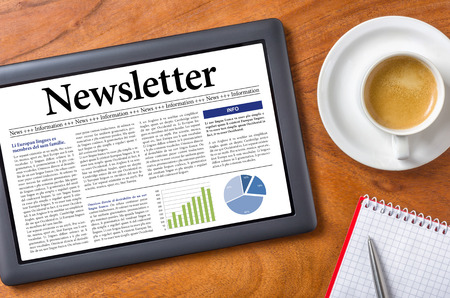 newsletters: Tablet on a desk - Newsletter