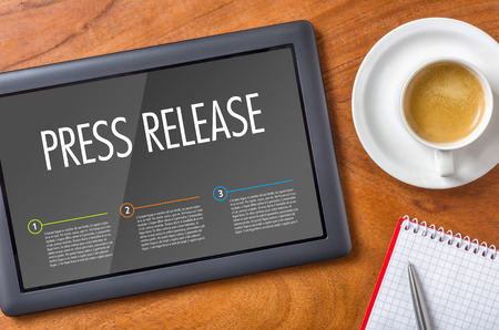 Tablet on a desk - Press Release