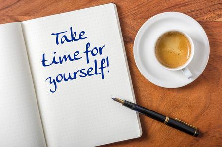Prenez le temps pour vous-même Banque d'images - 34215605