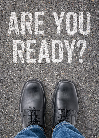 Text on the floor - Are you ready photo