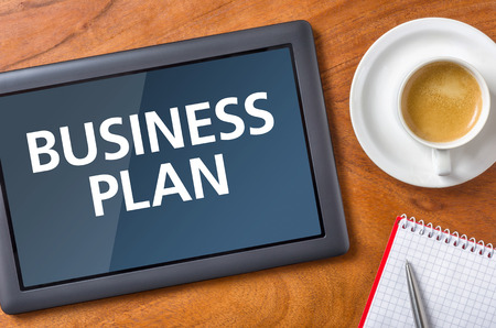 Tablet on a desk - Business Plan photo