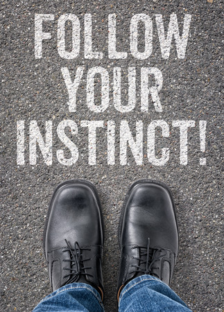 instinct: Text on the floor - Follow your instinct