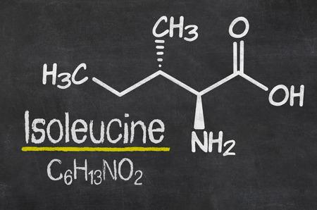 chemical formula: Blackboard with the chemical formula of Isoleucine