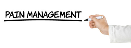 Pain Management: Hand with pen writing Pain Management
