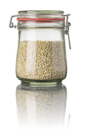 pearl barley: Pearl barley in a jar