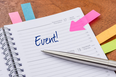 Daily planner with the entry Event photo