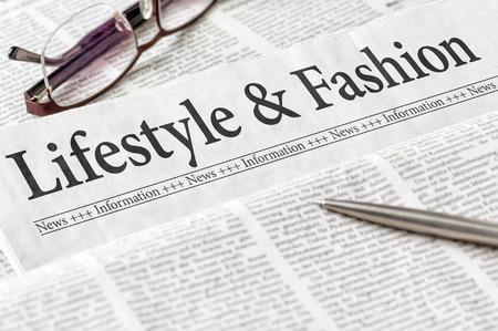 fashion magazine: A newspaper with the headline Lifestyle and Fashion Stock Photo