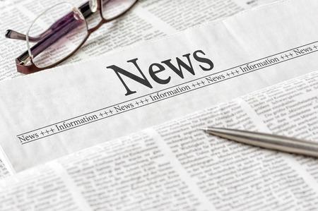 A newspaper with the headline News