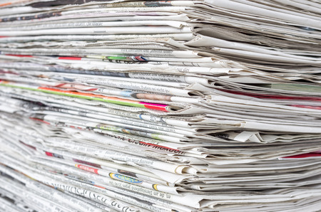 pile of newspapers: A pile of newspapers
