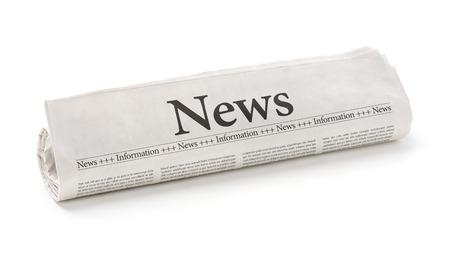 periódicos: Periódico rodado con el titular Noticias