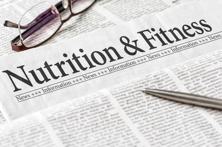 A newspaper with the headline Nutrition and Ftitness Stock fotó - 39537472